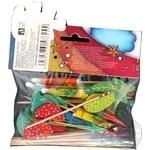 Набір Party House Шпильки фрукт,парасольки,дощ.шпаж 40шт - купити, ціни на CітіМаркет - фото 3