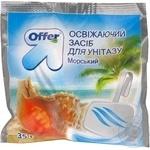 Освежитель Оффер Морской для туалетy 35г Украина
