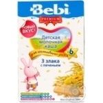 Каша детская молочная Беби Премиум Три Злака с печеньем для активного дня с 6 месяцев 200г Словения