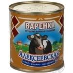 Продукт згущений Варенка Алексеєвська молоковмісний варений з цукром 8.5% 370г залізна банка Росія