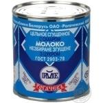Condensed milk Rogachiv with sugar 8.5% 380g can