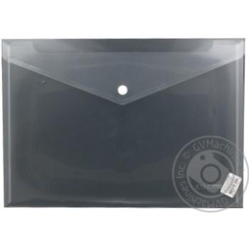 Папка-конверт А4 Economix прозора на кнопці E31301