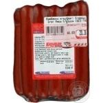Ковбаса єгерські М'ясо полісся напівкопчені вакуумна упаковка Україна