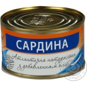 Рыба сардина Изи енд гуд с добавлением масла 240г железная банка