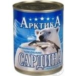 Fish sardines Arktika №9 with oil canned 365g can Ukraine
