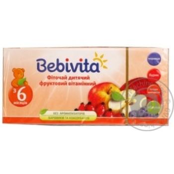 Фиточай Bebivita фруктовый витаминный детский 30г