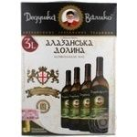 Wine Dedushka valiko Alazani valley white semisweet 10-12% 3000ml tetra pak Georgia