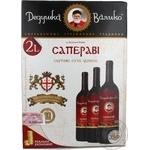 Wine saperavi Dedushka valiko red dry 10.5% 2000ml tetra pak Georgia