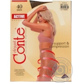 Колготы Conte Active 40 Den р.2 bronz шт - купить, цены на Novus - фото 2