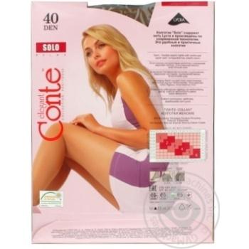 Колготы Conte Solo женские 40den bronz 5 размер - купить, цены на Novus - фото 3