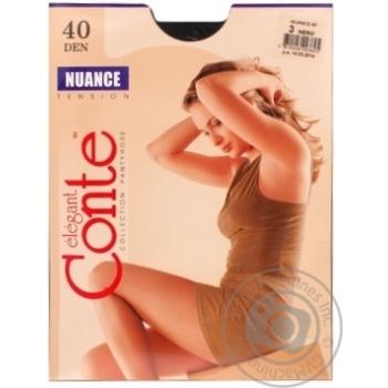 Колготи жiночi Conte Nuance 40ден р.3 Nero - купити, ціни на Novus - фото 3