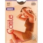 Tights Conte bronze polyamide for women 40den 3size