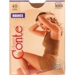 Tights Conte Nuance natural polyamide for women 40den 5size