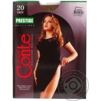 Колготы Conte Prestige 20 Den р.2 bronz шт - купить, цены на Novus - фото 3