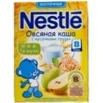Каша молочна вівсяна Nestle з шматочками груші 250г