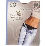 Tights Intuitsia beige polyamide for women 20den 4size