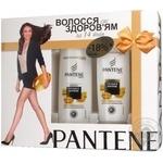 Подарочный набор Pantene Густые и Прочные Шампунь 250мл + Бальзам-ополаскиватель 200мл