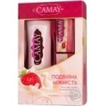 Подарочный набор Camay Creme&Strawberry гель для душа 250мл + мыло 2х90г
