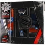 Подарочный набор Бритва Gillette Fusion ProGlide Power  + 1 картридж + бальзам после бритья Gillette Pro Мгновенное увлажнение 3в1 50мл + Гель для бритья Gillette Fusion Proglide Увлажняющий 200мл