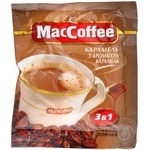 Coffee Maccoffee cream with a caramel instant 18g stick sachet