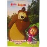 Папір кольоровий 10 арк.Росмен А4 Маша та Ведмідь