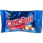 Драже Свиточ Сенсации арахис 2в1 в молочном и белом шоколаде 38г  Украина
