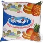Йогурт Фругурт тропик 2.5% 400г пленка Украина
