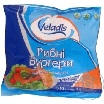 Бургери рибні з лосося в паніровці Veladis 420г