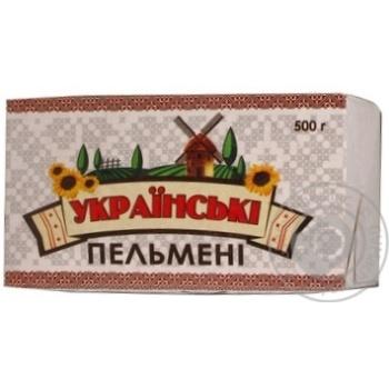 Пельмені Українське заморожена 500г Україна