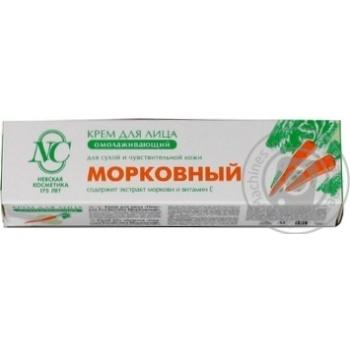 Крем для сухої і чутливої шкіри обличчя Морквяний Невська косметика 40мл