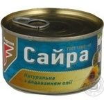 Fish saury Flagman with addition of butter 240g can