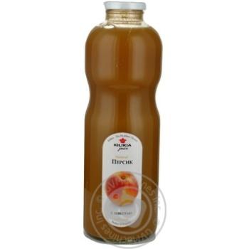 Нектар Киликиа Персиковый с мякотью 850мл стеклянная бутылка Армения - купить, цены на МегаМаркет - фото 1