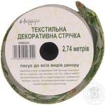 Стрічка декоративна Happycom текстиль 50*3 арт.W88302