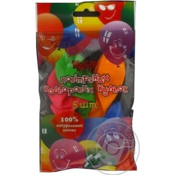 Кульки повітряні Party Favors Декоратор 5шт 61230/5 - купити, ціни на Novus - фото 1