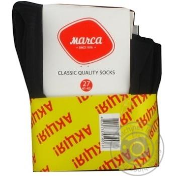 Шкарпетки чоловічі класичні Marca Classic розмір 27 М101U 5 пар акція - купить, цены на Novus - фото 2