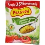Spices Rollton 12 vegetables 100g Ukraine
