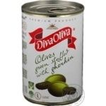 Оливки Diva Oliva зеленые с огурцами 314мл