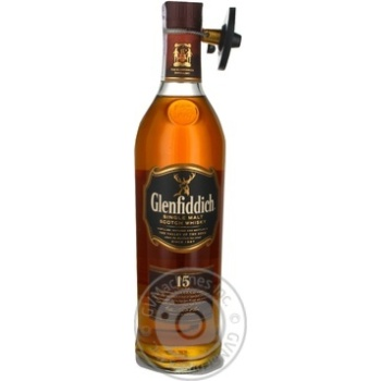 Виски Glenfiddich 15 y.o. в тубусе 0,7л - купить, цены на Novus - фото 3