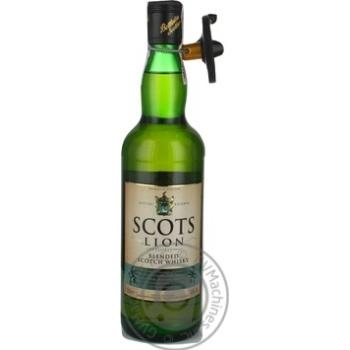 Віскі шотландське Scots Lion тубус 0,5л