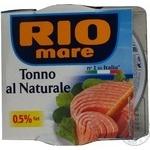 Тунець у власному соку Rio Mare 160г