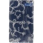 Скатертина ламінована Lambi синя з візерунком 120*200