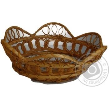 Хлібниця Екорамбус кругла різного плетіння Ф20*Н7  892621 - купить, цены на Novus - фото 4