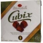 Цукерки шоколадні в шоколадній глазурі Delafaille Cubix Milk 150г