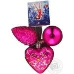 Набір ял-х іграшок 3шт 5см, 6см шишка, 7см сердце арт.195-S58 БонаДі