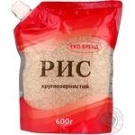 Крупа рис Эко-бренд круглозерный 600г