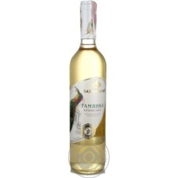 Вино Бахчисарай Тамянка белое полусладкое 12% 0,75л