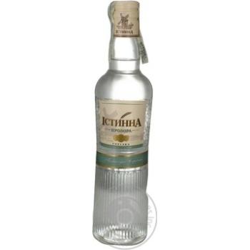 Горілка Істинна 40% 375мл скляна пляшка Україна
