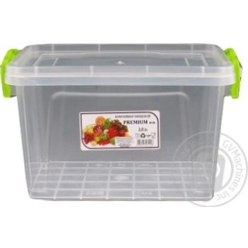 Premium №3 Food container high with lid 141X212X146mm 2l - buy, prices for Auchan - photo 2