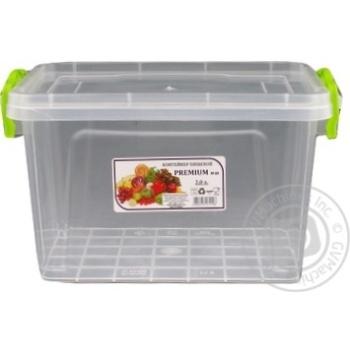 Контейнер пищевой Premium №3 высокий с крышкой 141X212X146мм 2л - купить, цены на Ашан - фото 4