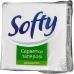Салфетка Софти белое 40шт